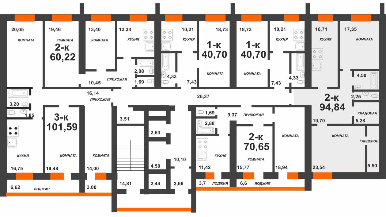 1 секция - 2 этаж